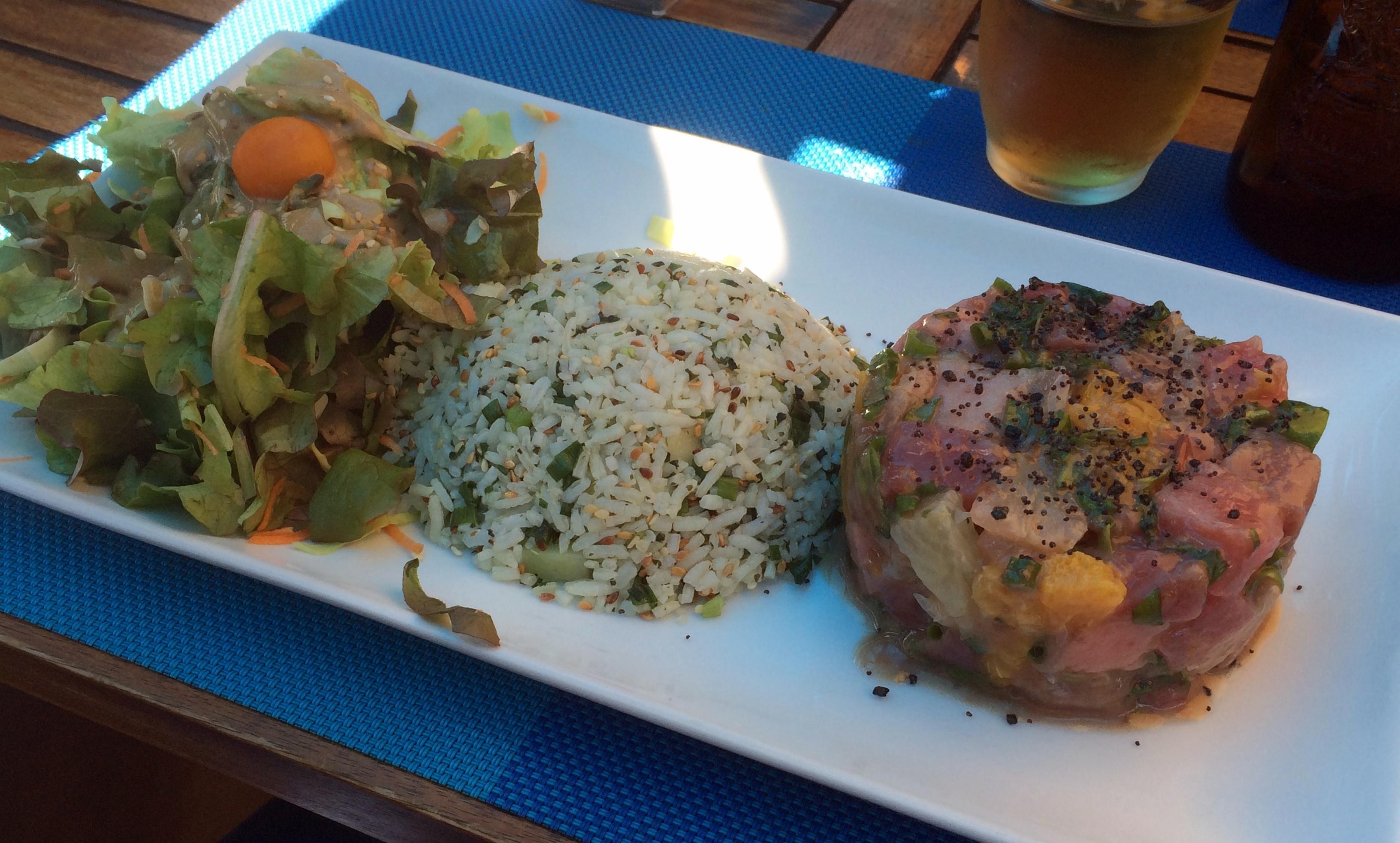 Avis restaurant poisson - Tartare Thon - Saint Gilles les Bains 974 île de la Réunion