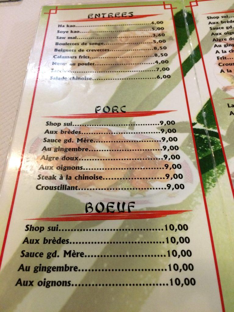 Bonne adresse - restaurant LAM menu 3 - 97400 Saint-Denis
