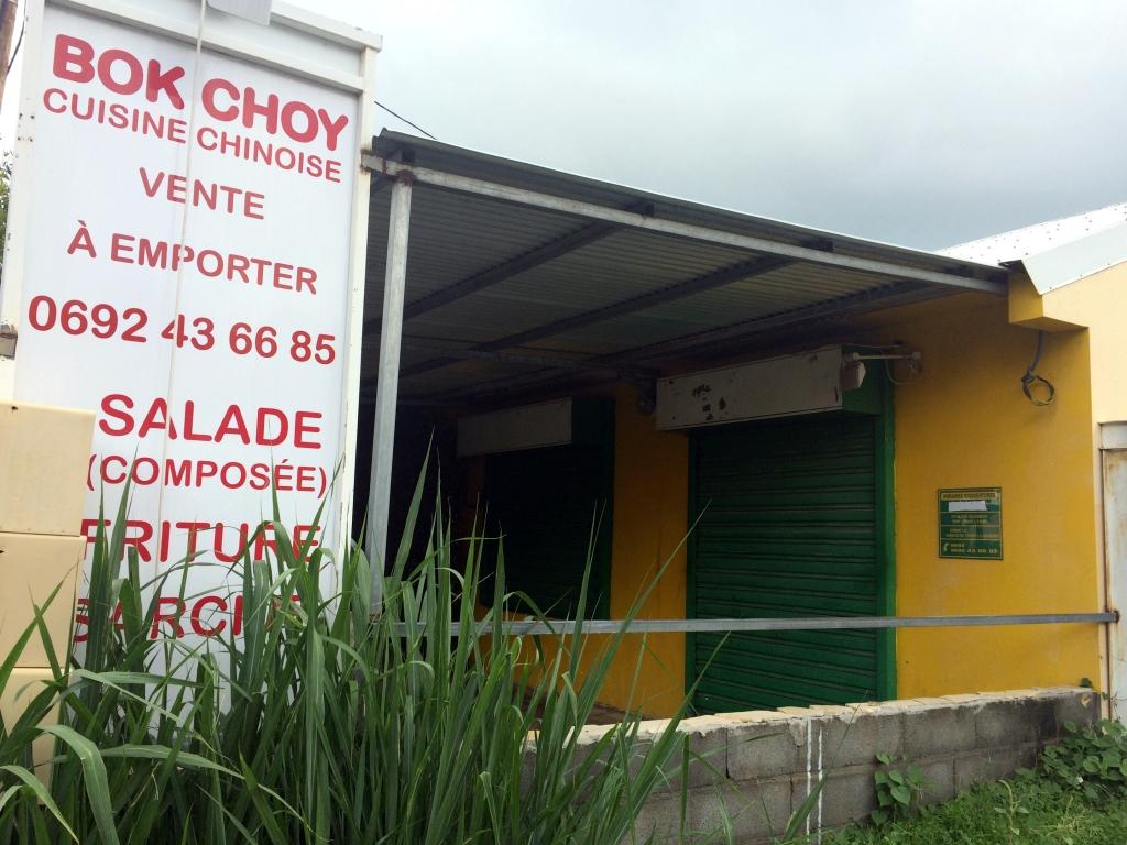 Bok Choy Bonne adresse restaurant saint-gilles les hauts 974 devanture